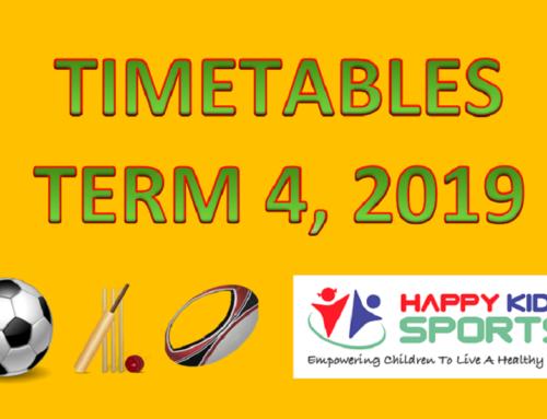 Happy Kids Sports Term 4 2019 Timetables