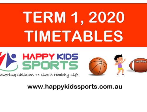 Happy Kids Sports Timetables Term 1, 2020