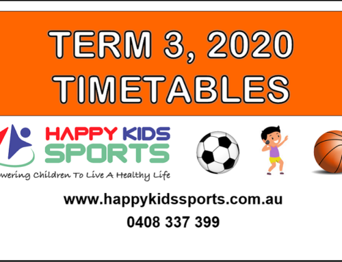 Happy Kids Sports Timetables Term 3, 2020