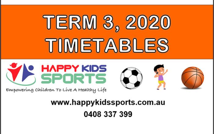 Term 3 2020 timetables