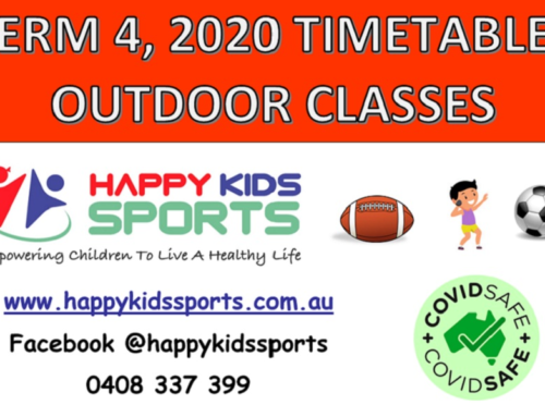 Happy Kids Sports outdoor classes Term 4, 2020 – Timetables