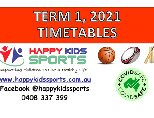 Happy Kids Sports Term 1, 2021 Timetables