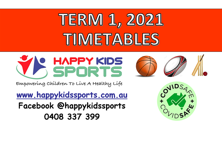 TERM 1 2021 TIMETABLES